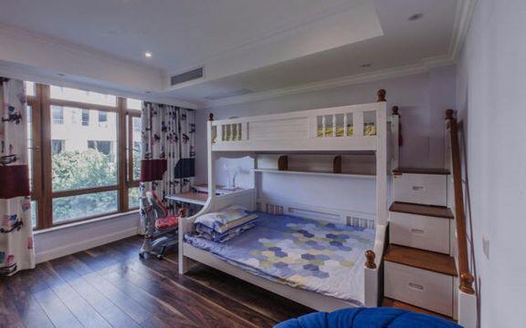 儿童房白色床设计图欣赏
