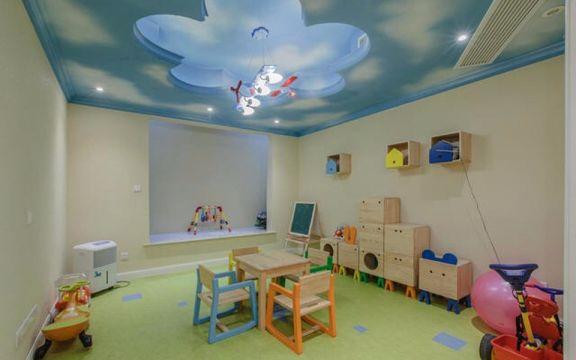 儿童房绿色吊顶美式风格装饰效果图