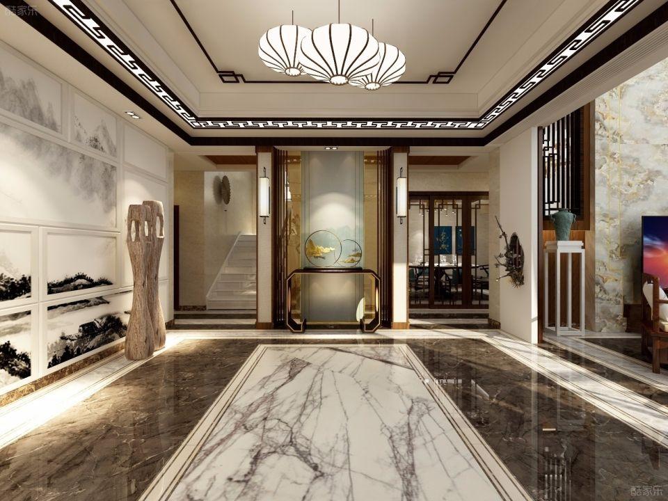 三室两厅两卫260平米中式风格装修效果图