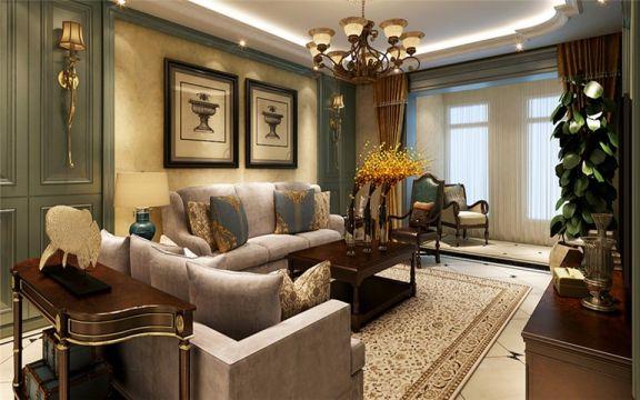 2020美式150平米效果图 2020美式二居室装修设计