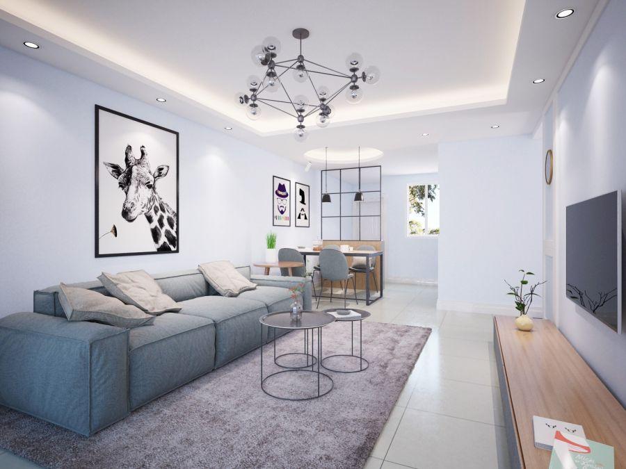 2020北欧120平米装修效果图片 2020北欧四居室装修图