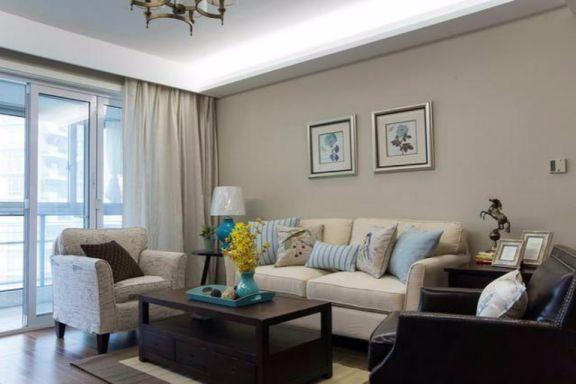 三华花园三室两厅120平美式风格装修效果图