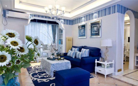 金阜雅苑100平地中海三室两厅一卫装修效果图
