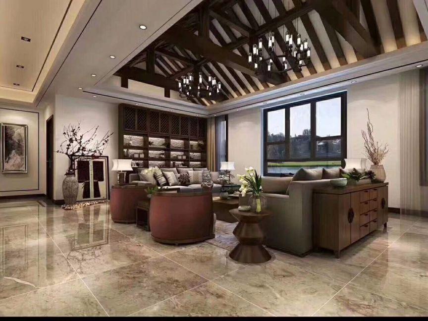 客厅地砖中式风格装修图片