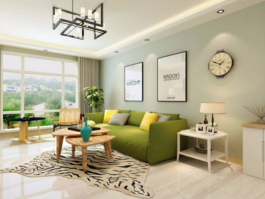 110平米清新北欧风格三室两厅装修效果图