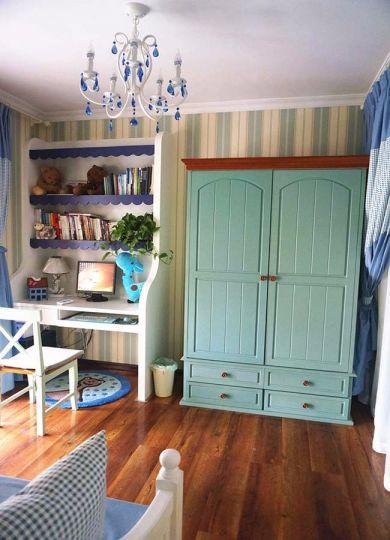 儿童房衣柜地中海风格装修设计图片