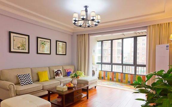 金地天逸110平米美式风格三居装修效果图