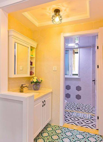 卫生间地板砖美式风格装潢图片