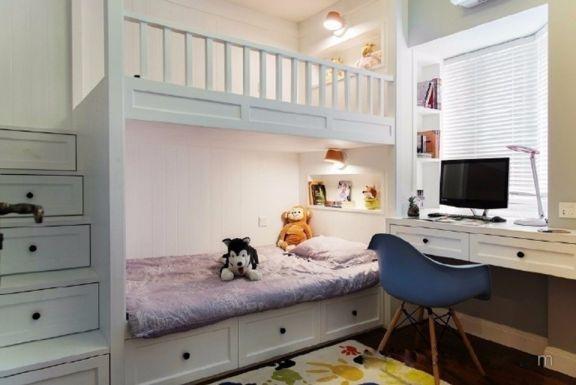 儿童房床美式风格装修图片