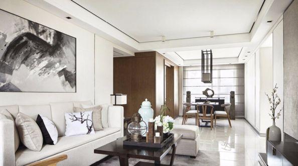 华润二十四城新中式风格120平三居室装修效果图
