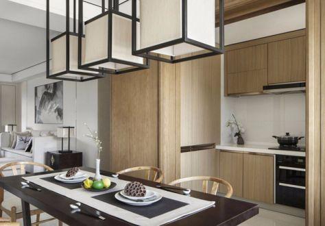 厨房厨房岛台新中式风格效果图