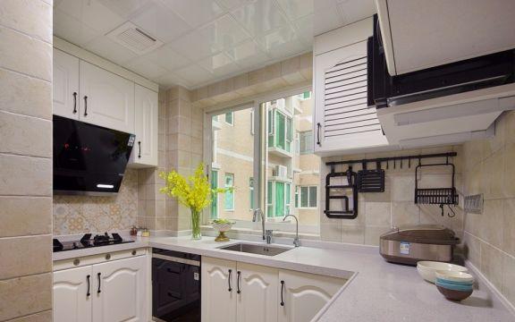 厨房窗台美式风格装饰图片