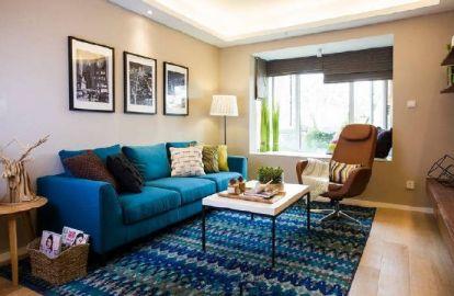 90平米阳光北欧风格3居室装修效果图