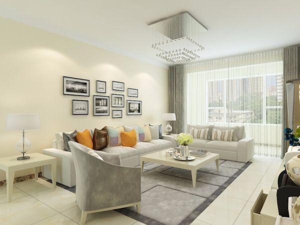 融汇爱都134平三居室现代简约装修效果图