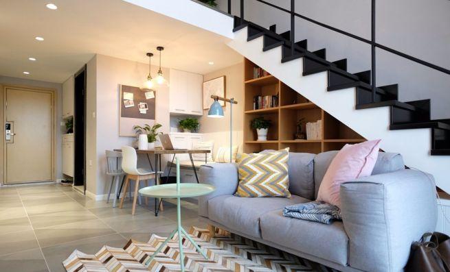 公园道1号北欧风格40平公寓一室一厅装修效果图
