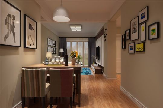 合肥信地華地城86平現代風格三居室裝修效果圖