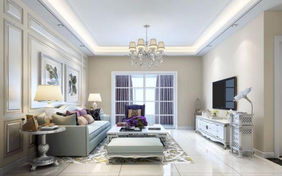 90平简欧风格两室两厅装修效果图