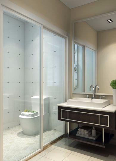 卫生间吧台简欧风格装潢图片