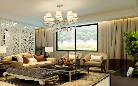 165平欧式风格五室两厅装修效果图