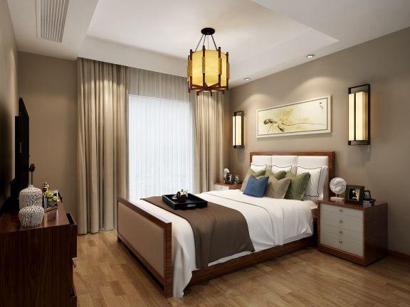 卧室地板砖新中式风格效果图