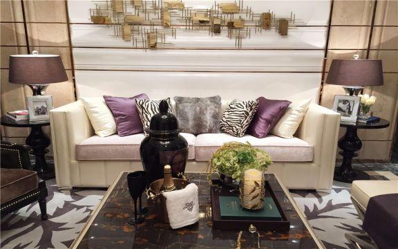 滨江瑞景家园101平欧式三室两厅一卫装修效果图