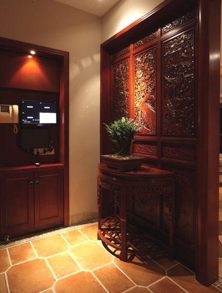 玄关门厅中式风格装修设计图片