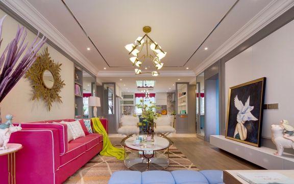 王府园小区混搭风格72平方二居室装修效果图