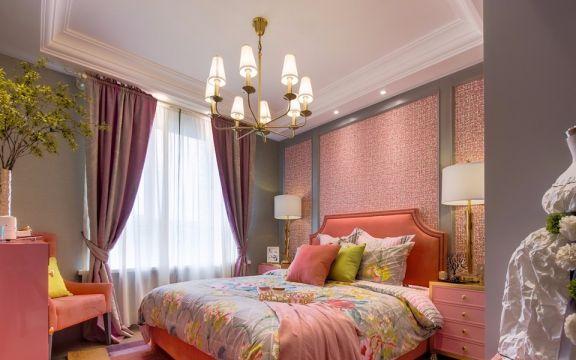 卧室床混搭风格装潢图片