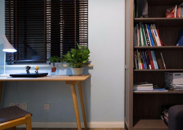 卧室书架混搭风格装潢图片
