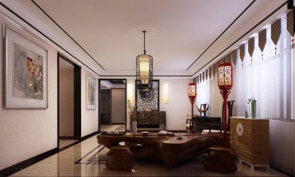 格林小镇440平米简约风格四室两厅装修效果图