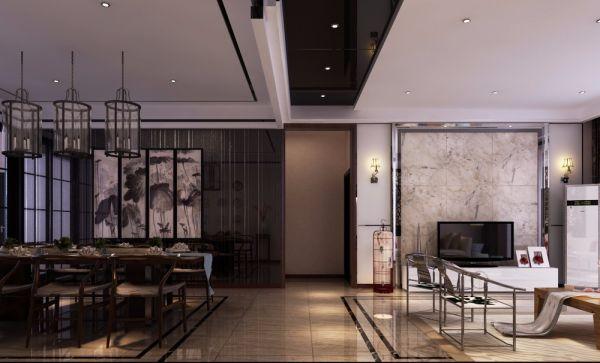 2019中式150平米效果图 2019中式四居室装修图