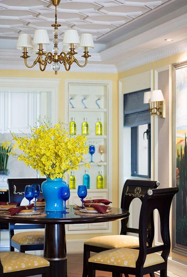 餐厅吊顶欧式田园风格装潢效果图