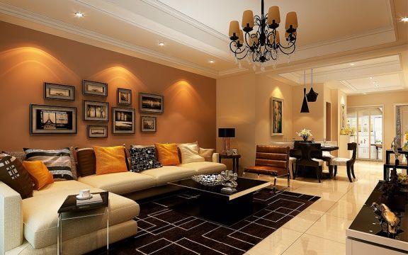 120平米现代三室两厅装修效果图