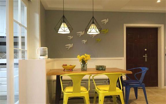 餐厅灯具美式风格装修图片