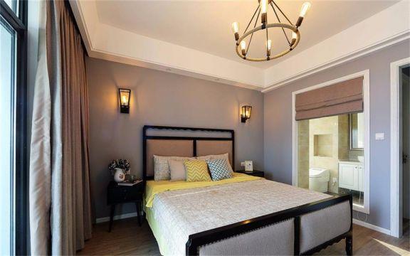 卧室灯具美式风格装饰图片