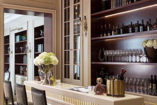酒窖吧台欧式风格装饰设计图片