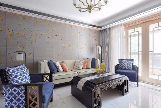 140平米现代简约风格三居室装修效果图
