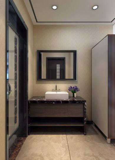 卫生间地砖新中式风格效果图