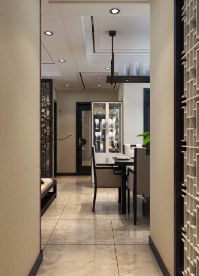 餐厅走廊新中式风格装修效果图