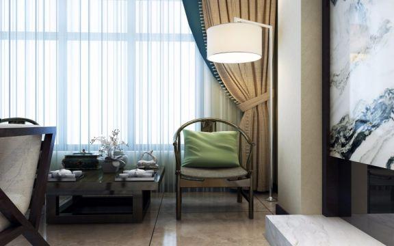 书房窗帘新中式风格装饰效果图