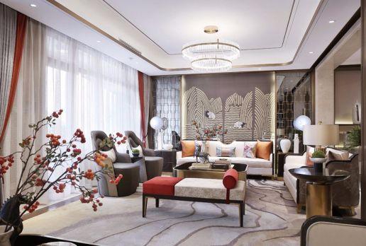 160平米新中式风格四居室装修效果图