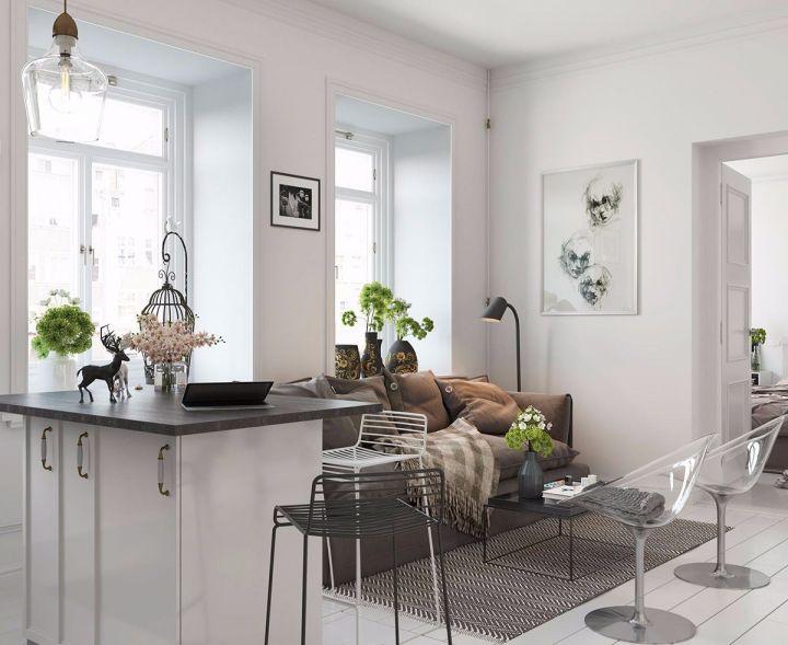 客厅沙发北欧风格装潢图片