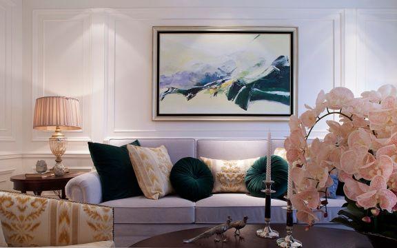 香榭丽园125平混搭风格三居室装修效果图