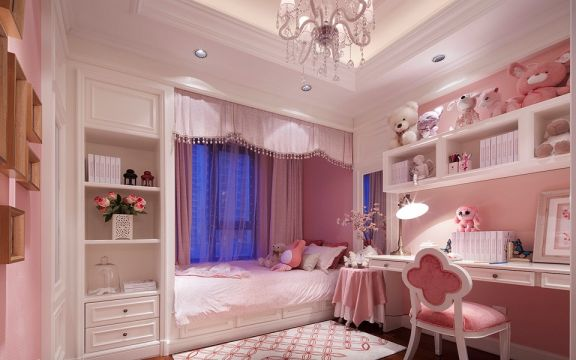 儿童房床混搭风格装潢效果图