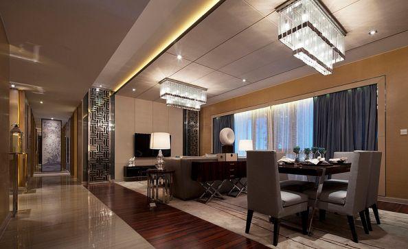 餐厅黄色吊顶中式风格装饰设计图片
