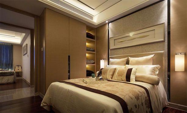 卧室黄色衣柜中式风格装修效果图