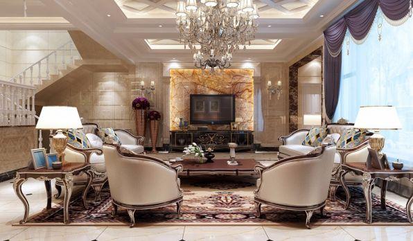 简欧风格320平米别墅室内装修效果图