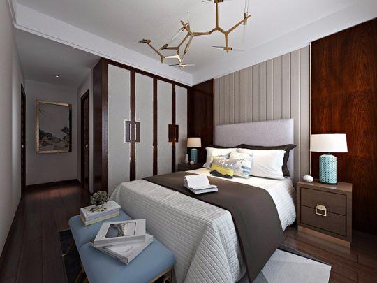 卧室白色床中式风格装修图片
