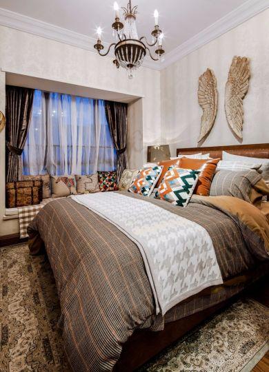 卧室床美式风格装潢图片