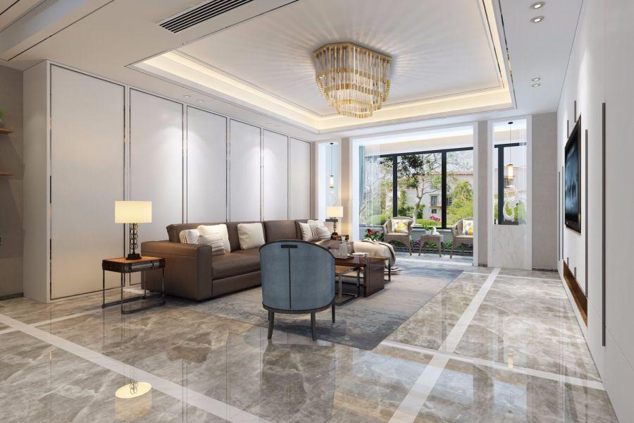 现代简约风格260平米大户型室内装修效果图